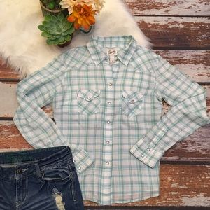 🎇Aeropostale |Plaid Button Up Shirt | long sleeve